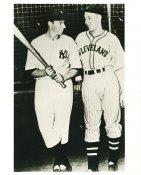Joe DiMaggio & Bob Feller New York Yankees & Cleveland Indians Small Crease LIMITED STOCK 8X10 Photo