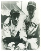 Joe DiMaggio & Ted Williams New York Yankees & Boston Red Sox LIMITED STOCK 8X10 Photo
