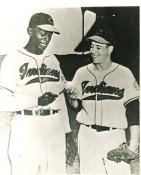 Bob Feller & Satchel Paige Cleveland Indians Slightly Blurry LIMITED STOCK 8X10 Photo