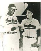 Bob Feller & Satchel Paige Cleveland Indians Slightly Blurry LIMITED STOCK 8X10 Photo