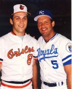 George Brett & Cal Ripken KC Royals & Baltimore Orioles LIMITED STOCK 8X10 Photo