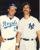 George Brett & Don Mattingly KC Royals & New York Yankees LIMITED STOCK 8X10 Photo