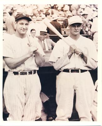 """Lou Gehrig & Bob """"Indian"""" Johnson NY Yankees & Philadelphia Athletics LIMITED STOCK 8X10 Photo"""
