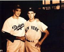 Ralph Branca & Tommy Byrne Brooklyn Dodgers & NY Yankees Slight Crease at Top LIMITED STOCK 8X10 Photo