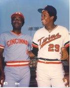 Joe Morgan & Rod Carew Cincinnati Reds & Minnesota Twins LIMITED STOCK 8X10 Photo