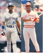 Ken Griffey Jr & Ken Griffey Sr Seattle Mariners & Cincinnati Reds LIMITED STOCK 8X10 Photo
