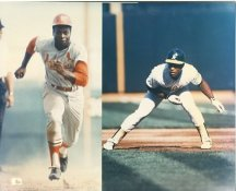 Lou Brock & Rickey Henderson St Louis Cradinals & Oakland Athletics LIMITED STOCK 8X10 Photo