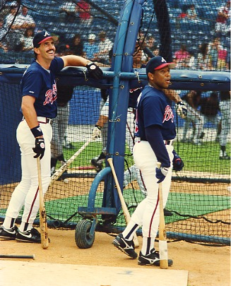Sid Bream & Terry Pendleton Atlanta Braves LIMITED STOCK 8X10 Photo