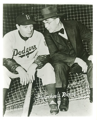 Leo Durocher & Rickey Branch Brooklyn Dodgers LIMITED STOCK 8X10 Photo