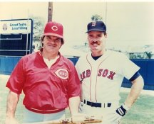 Pete Rose & Wade Boggs Cincinnati Reds & Boston Red Sox LIMITED STOCK 8X10 Photo