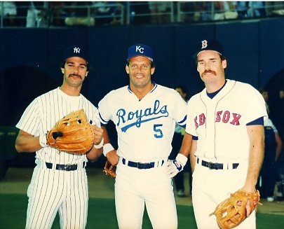 Don Mattingly, George Brett & Wade Boggs New York Yankees, KC Royals & Boston Red Sox  LIMITED STOCK 8X10 Photo