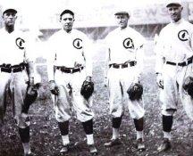 Joe Tinker, Harry Steinfeldt, Johnny Evers & Frank Chance 1908 Chicago Cubs 8X10 Photo