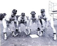 Ron Cey, Bill Russell, Davey Lopes & Steve Garvey Los Angeles Dodgers 8X10 Photo