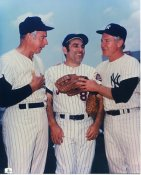 Joe Dimaggio, Yogi Berra & Whitey Ford New York Yankees LIMITED STOCK 8X10 Photo