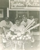 Del Ennis, Richie Ashburn & Tommy Brown Philadelphia Phillies LIMITED STOCK 8X10 Photo