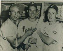Andy Seminick, Willie Jones & Richie Ashburn Philadelphia Phillies Dark Exposure LIMITED STOCK 8X10 Photo