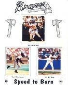 Ron Gant, Deion Sanders & Otis Nixon Atlanta Braves LIMITED STOCK 8X10 Photo
