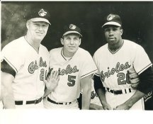 Boog Powell, Brooks Robinson & Frank Robinson Baltimore Orioles LIMITED STOCK 8X10 Photo
