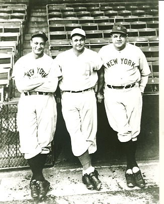 Lou Gehrig, Jimmie Foxx & Babe Ruth New York Yankees & Philadelphia Athletics LIMITED STOCK 8X10 Photo