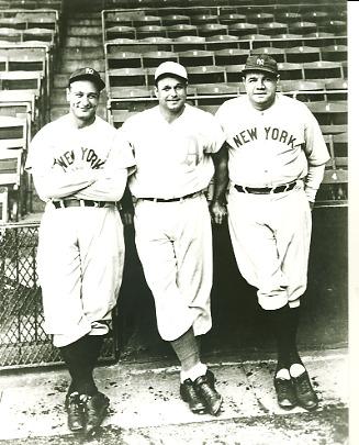 Lou Gehrig, Jimmie Foxx & Babe Ruth New York Yankees & Philadelphia Athletics LIMITED STOCK 8X10 Photo