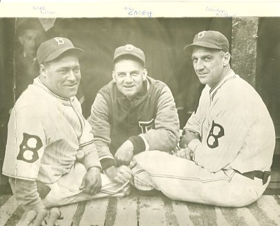 Hack Wilson, Max Carey & George Kelly Brooklyn Dodgers LIMITED STOCK 8X10 Photo