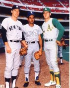 John Strohmayer, Luis Aparicio & Catfish Hunter New York Mets, Chicago White Sox & Oakland Athletics LIMITED STOCK 8X10 Photo