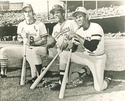 Joe Torre, Willie Davis & Roberto Clemente St Louis Cardinals, LA Dodgers & Pittsburgh Pirates LIMITED STOCK 8X10 Photo