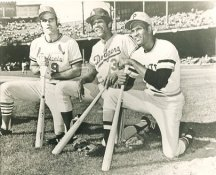 Joe Torre, Willie Davis & Roberto Clemente St Louis Cardinals, LA Dodgers & Pittsburgh Pirates LIMITED STOCK 8X10 Photo