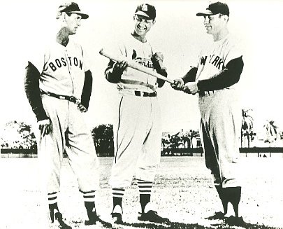 Ted Williams, Stan Musial & Mickey Mantle Boston Red Sox, St Louis Cardinals & New York Yankees LIMITED STOCK SATIN 8X10 Photo