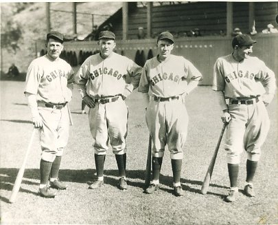 Charlie Grimm, Rogers Hornsby, Clyde Beck & Woody English Chicago Cubs LIMITED STOCK 8X10 Photo