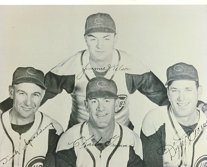 Dick Spalding, Jimmie Wilson, Charlie Grimm & Dizzy Dean Chicago Cubs LIMITED STOCK 8X10 Photo