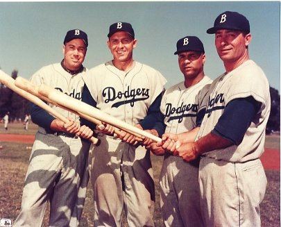 Duke Snyder, Gil Hodges, Roy Campanella & Carl Furillo Brooklyn Dodgers LIMITED STOCK 8X10 Photo