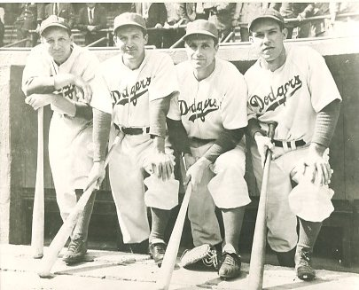 Dixie Walker, Joe Medwick, Dolph Camilli & Pete Reiser Brooklyn Dodgers LIMITED STOCK 8X10 Photo