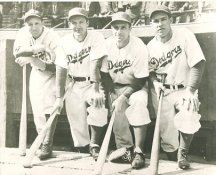 Dixie Walker, Joe Medwick, Dolph Camilli & Pete Reiser Brooklyn Dodgers LIMITED STOCK 8X10 Photo