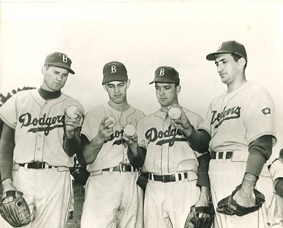 Preacher Roe, Clem Labine, Carl Erskine & Ralph Branca Brooklyn Dodgers LIMITED STOCK 8X10 Photo