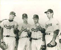 Preacher Roe, Clem Labine, Carl Erskine & Ralph Branca Brooklyn Dodgers LIMITED STOCK 8X10 Photo