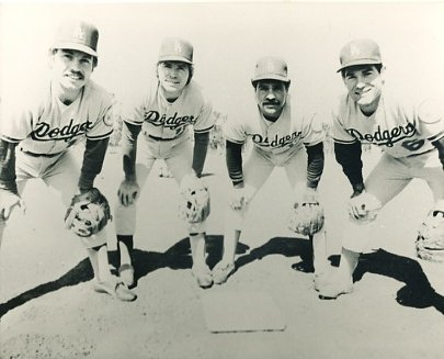 Ron Cey, Bill Russell, Davey Lopes & Steve Garvey LA Dodgers LIMITED STOCK 8X10 Photo