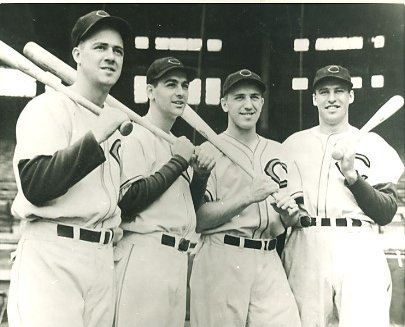 Ken Keltner, Lou Boudreau, Ray Mack & Hal Trosky Cleveland Indians LIMITED STOCK 8X10 Photo