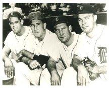 Ray Boone, Fred Hutchinson, Bob Swift & Harvey Kuenn Detroit Tigers LIMITED STOCK 8X10 Photo