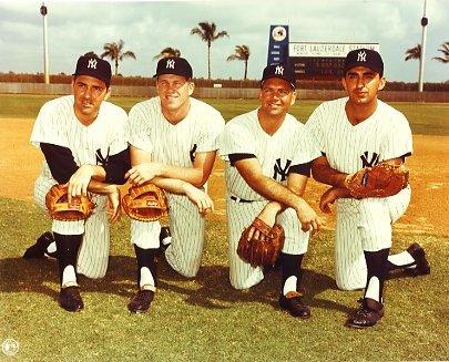 Clete Boyer, Tony Kubek, Bobby Richardson & Joe Pepitone New York Yankees LIMITED STOCK 8X10 Photo