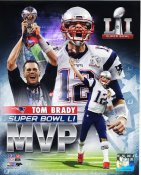 Tom Brady MVP New England Patriots Super Bowl 51 SATIN 8x10 Photo
