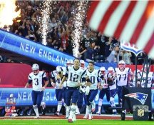 New England Patriots Take The Field Super Bowl 51 SATIN 8x10 Photo