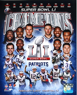 New England Patriots Super Bowl 51 Champions Composite SATIN 8x10 Photo