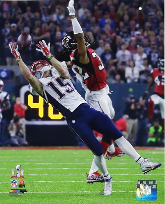 Chris Hogan New England Patriots Super Bowl 51 SATIN 8x10 Photo