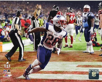James White New England Patriots Super Bowl 51 SATIN 8x10 Photo