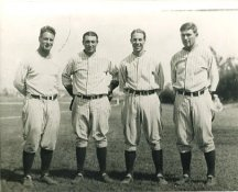 Lou Gehrig, Tony Lazerri, Lyn Lary, Mark Koenig New York Yankees LIMITED STOCK 8X10 Photo