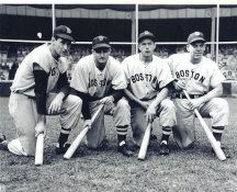Ted Williams, Bobby Doerr, Dom DiMaggio, Vern Stephens Boston Red Sox LIMITED STOCK 8X10 Photo