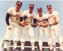 Brooks Robinson, Mark Bellinger, Dave Johnson, Boog Powell Baltimore Orioles LIMITED STOCK 8X10 Photo