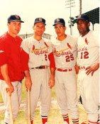 Ken Boyer, Dick Groat, Julian Xavier, Bill White St Louis Cardinals LIMITED STOCK 8X10 Photo