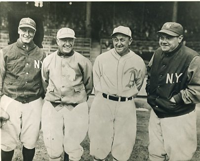 Lou Gehrig, Babe Ruth, Tris Speaker, Ty Cobb NY Yankees, Chicago Cubs, Philadelphia Athletics LIMITED STOCK 8X10 Photo